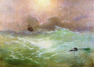 Ivan Aivazovsky - Ship in a storm