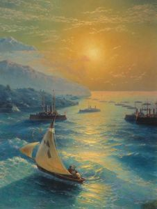 Ivan Aivazovsky - Ships at the Feodosiya raid