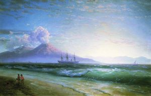 Ivan Aivazovsky - The Bay of Naples early in the morning