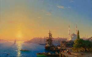Ivan Aivazovsky - View of Constantinople and the Bosporus