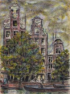 Ivan Albright - View from Hotel Window, Prinsenstraat Amsterdam, Holland