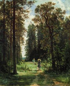 Ivan Ivanovich Shishkin - The Path through the Woods, 1880 (oil on canvas)