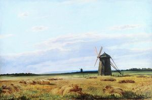 Ivan Ivanovich Shishkin - Windmill in the field