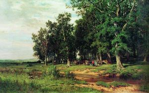 Ivan Ivanovich Shishkin - Mowing in the oak grove