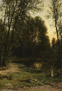 Ivan Ivanovich Shishkin - River backwater in the forest