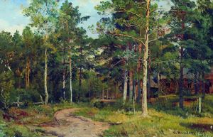 Ivan Ivanovich Shishkin - Autumn landscape. Path in the forest