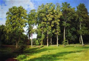 Ivan Ivanovich Shishkin - Grove by the Pond. Preobrazhenskoye