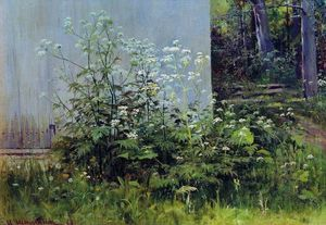 Ivan Ivanovich Shishkin - Flowers at the fence