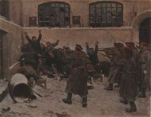 Ivan Vladimirov - The shooting in Presnya in December 1905