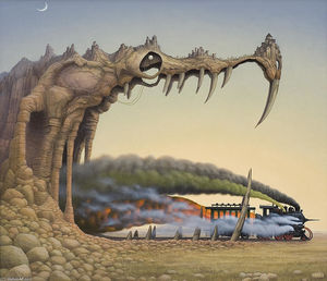 Jacek Yerka - Dragon-s pleasure