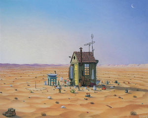 Jacek Yerka - House on the Prairie