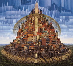 Jacek Yerka - Spring in the Parish