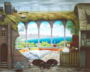 Jacek Yerka - Think of the Weekend