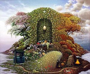 Jacek Yerka - Three Seasons