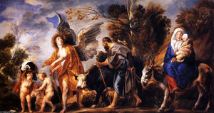 Jacob Jordaens - The Flight into Egypt