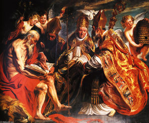 Jacob Jordaens - The four Latin fathers of the Church