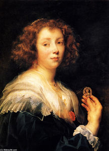 Jacob Jordaens - Portrait of a young lady