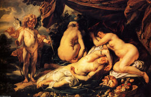 Jacob Jordaens - Love of Cupid and Psyche