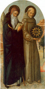 Jacopo Bellini - Saint Anthony Abbot and Saint Bernardino da Siena