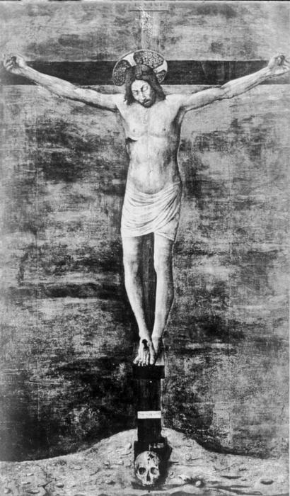 Crucifix, Tempera by Jacopo Bellini (1396-1470, Italy)