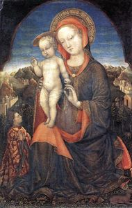 Jacopo Bellini - The Madonna of Humility adored by Leonello d'Este
