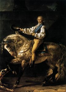Jacques Louis David - Equestrian Portrait of Stanislas Kostka Potocki