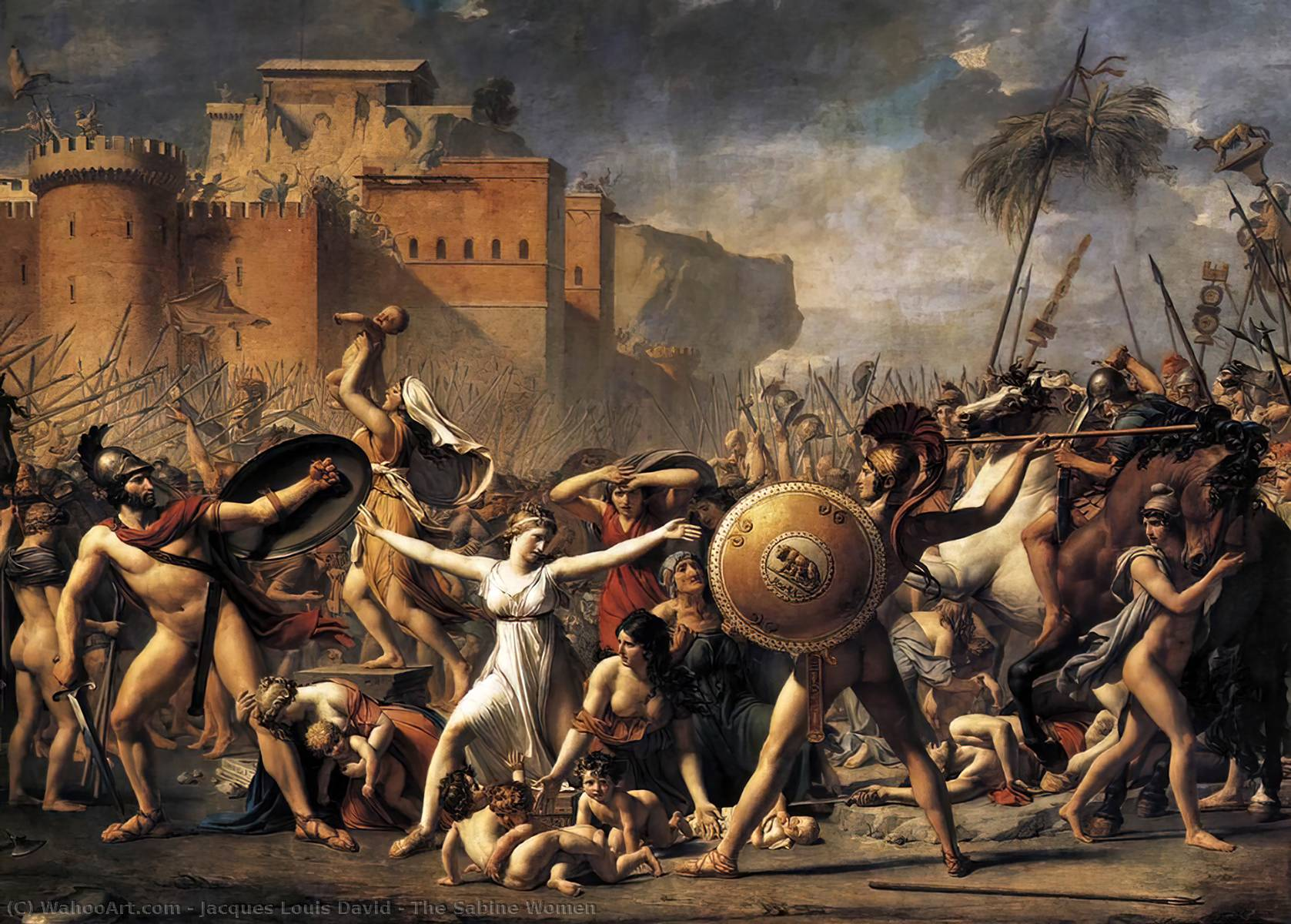 The Sabine Women, Oil On Canvas by Jacques Louis David (1748-1800, France)
