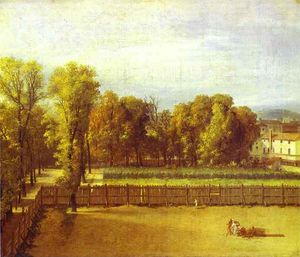 Jacques Louis David - View of the Luxembourg Gardens in Paris