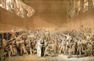Jacques Louis David - The Tennis Court Oath, 20th June 1789