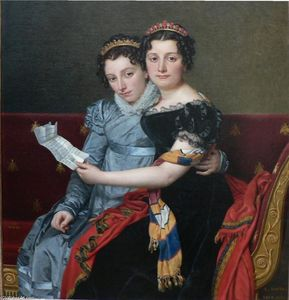 Jacques Louis David - The Sisters Zenaide and Charlotte-Bonaparte