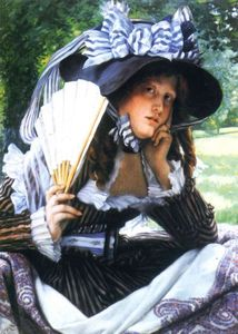 James Jacques Joseph Tissot - Girl with a fan
