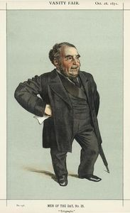 James Jacques Joseph Tissot - Caricature of John Pender