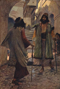 James Jacques Joseph Tissot - Saul meets with Samuel