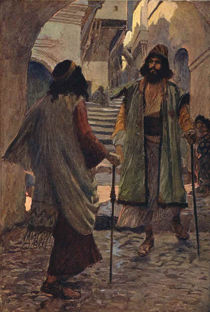 Saul meets with Samuel, 1900 by James Jacques Joseph Tissot (1836-1902, France) | Museum Art Reproductions James Jacques Joseph Tissot | WahooArt.com