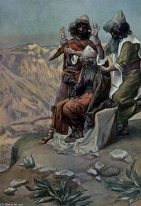 James Jacques Joseph Tissot - Moses on the Mountain During the Battle, as in Exodus