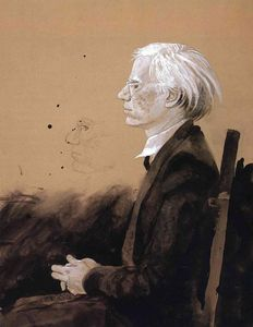 Jamie Wyeth - Andy Warhol - Facing Left