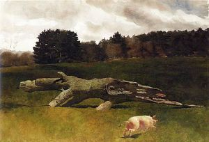 Jamie Wyeth - The Runaway Pig