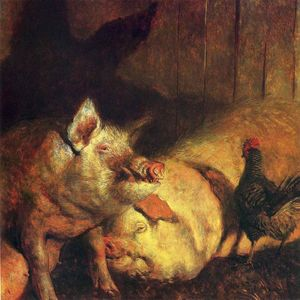 Jamie Wyeth - Night Pigs