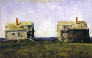 Jamie Wyeth - Twin Houses