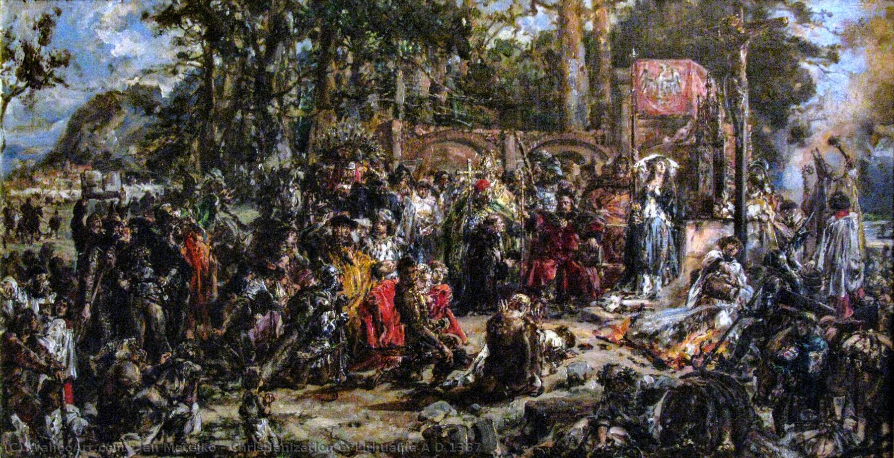 Order Museum Quality Copies | Christianization of Lithuania A D 1387, 1889 by Jan Matejko (1838-1893, Poland) | WahooArt.com