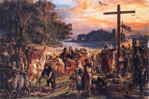 Jan Matejko - Christianization of Poland A D 965