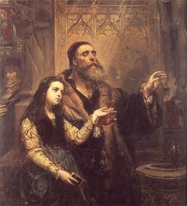 Jan Matejko - Blind Veit Stoss with daughter
