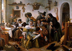 Jan Steen - Wealth is looking