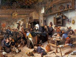 Jan Steen - Village school