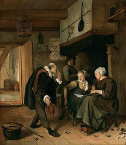 Jan Steen - An old to Young Girl