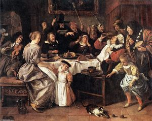 Jan Steen - Twelfth Night