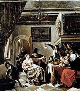 Jan Steen - Family holiday