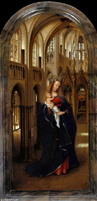The Madonna in the Church, Oil by Jan Van Eyck (1390-1441, Netherlands)
