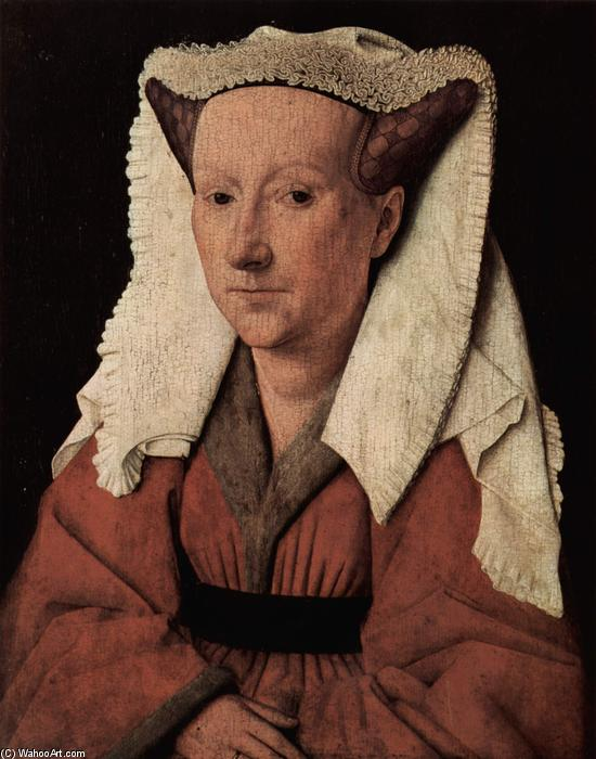 Portrait of Margaret van Eyck, Oil On Panel by Jan Van Eyck (1395-1441, Netherlands)