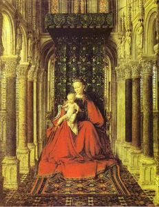 Jan Van Eyck - The Virgin and Child in a Church